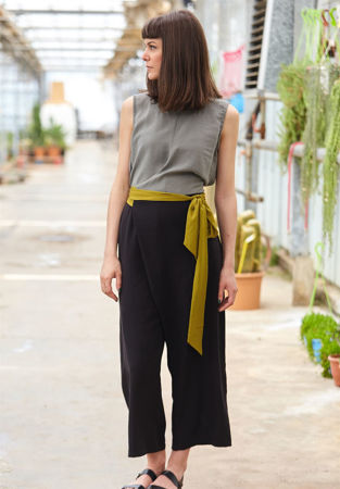 Picture of Geometric Jumpsuit in Grey - Black - Lime