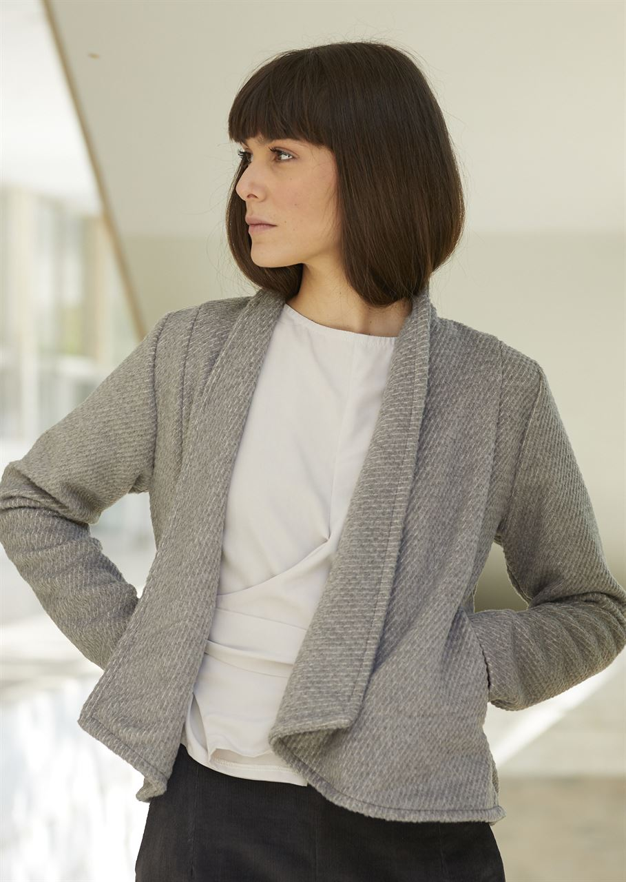 Picture of structured jacket/light coat in grey