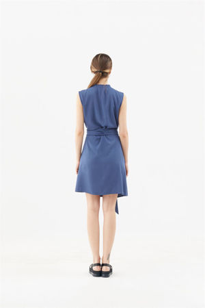"Picture of  ""babushka"" shirt dress in blue"