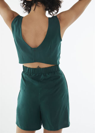 Picture of  Low back playsuit in green