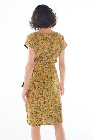 "Picture of ""ariadne"" midi dress in yellow animal"