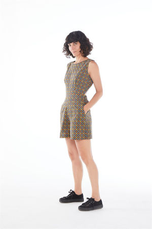 """Picture of """"geometric tiles"""" playsuit"""