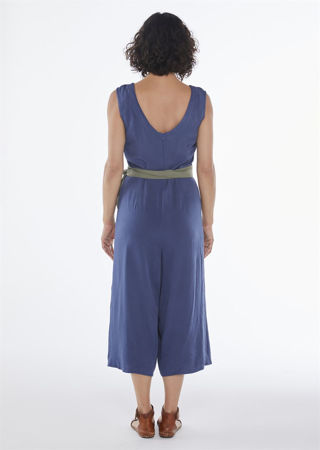Picture of wrap jumpsuit in blue