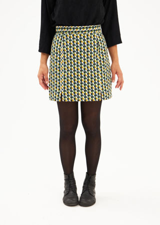 Picture of geometric print mini skirt