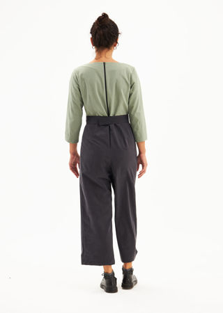 """Picture of wide leg """"flying lapel"""" jumpsuit"""