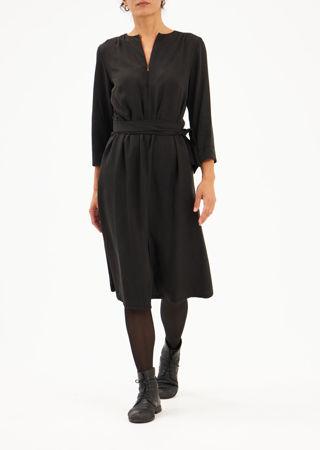 Picture of A-line midi dress black